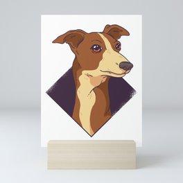 English Whippet Dog Mini Art Print