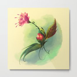 Essence of Nature - Humming Blossom Metal Print