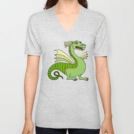 Green Chinese Dragon Unisex V-Neck