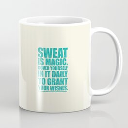 Lab No. 4 - Sweat Is Magic Cover Yourself In It Daily Gym Inspirational Quotes Poster Coffee Mug