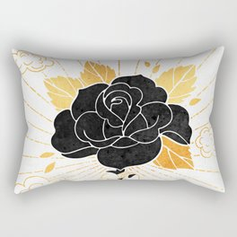 Black Rose Inktober :: Your Psyche Rectangular Pillow