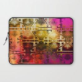1001 Lights Pattern (gold-magenta-vermillion) Laptop Sleeve