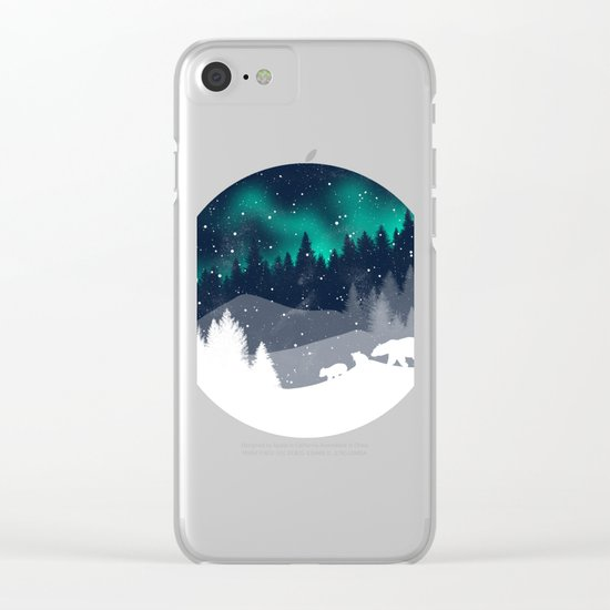 Stardust Horizon Clear iPhone Case