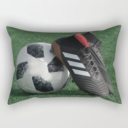 Football with soccer shoes #sports #society6 Rectangular Pillow