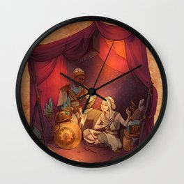 The tent in the desert Wall Clock