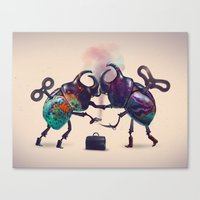 fight Canvas Prints featuring Fight by Tanya_tk