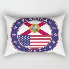 Florida, Florida t-shirt, Florida sticker, circle, Florida flag, white bg Rectangular Pillow