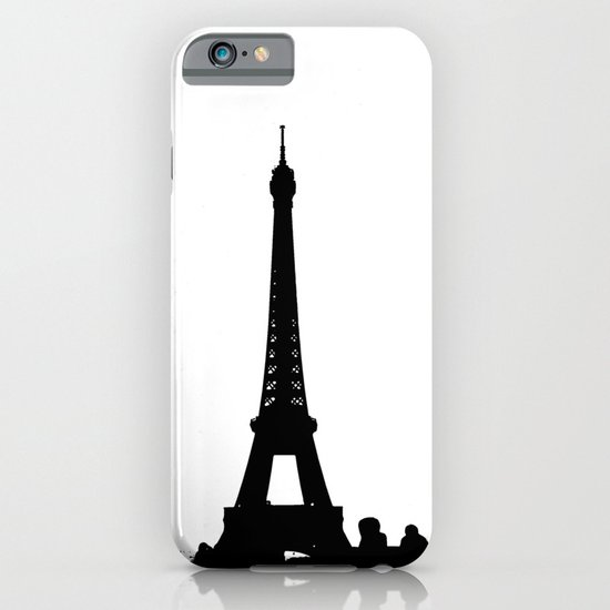 Eiffel Silhouette iPhone & iPod Case