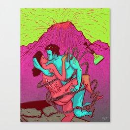 Lava love Canvas Print