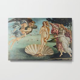 Sandro Botticelli - The birth of Venus (La nascita di Venere) Metal Print