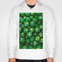 brazil Hoodies featuring BRAZIL FOOTBALLS by AMULET