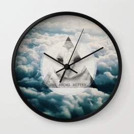 -She Knows Better Wall Clock