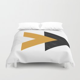 Forward marble yellow arrows Duvet Cover