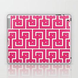 Greek Key - Pink Laptop & iPad Skin