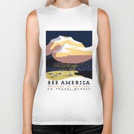 Vintage See America - Montana Travel Biker Tank