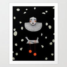 Rodinia in Black Art Print