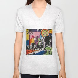 the city 6 Unisex V-Neck