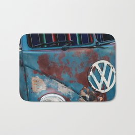 Retro Hippie Party Van from The 1960's Bath Mat