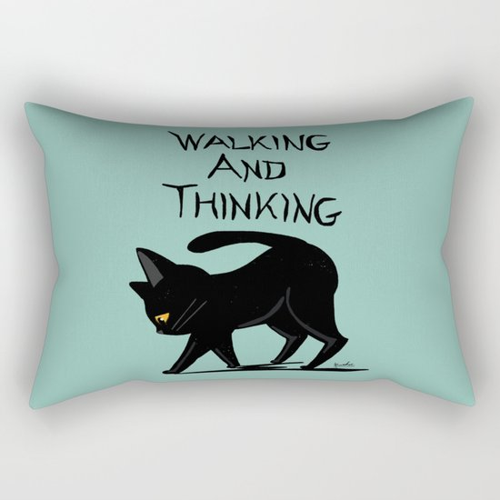 Walking and thinking Rectangular Pillow
