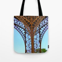 eiffel Tote Bags featuring Eiffel by Camille Renee