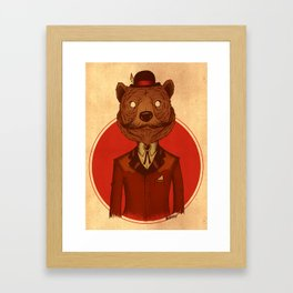 {Bosque Animal} Oso Framed Art Print
