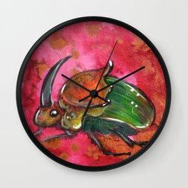 Rainbow Scarab Wall Clock