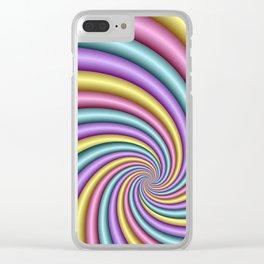 fluid -57- Clear iPhone Case
