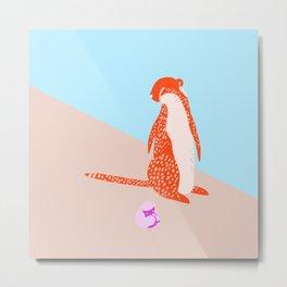 Red Cheetah and Baby Metal Print