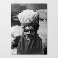 demon Canvas Prints featuring Demon by Mrs Araneae
