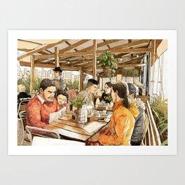 Farm Cafe Art Print