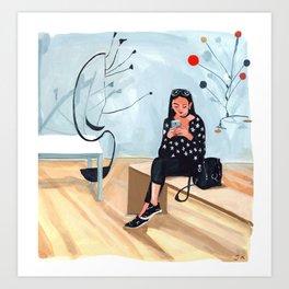 Texting With Calder Art Print