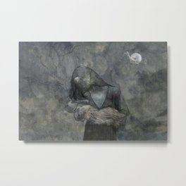 Mother Child Stone Metal Print