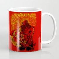 viking Mugs featuring Viking  by David Miley