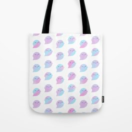 Kawaii Watercolour Ghosts (Unicorn) Tote Bag