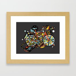 FIX TRIP ~ BLACK Framed Art Print
