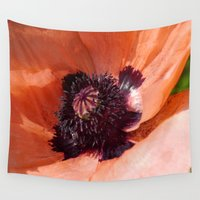 oriental Wall Tapestries featuring Oriental Poppy by Christiane W. Schulze Art and Photograph