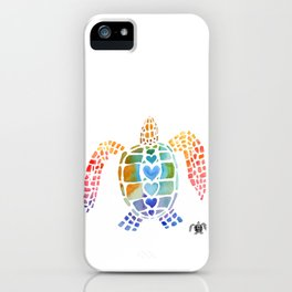 Hug a Sea Turtle iPhone Case