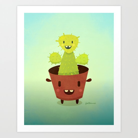 Cactusini Art Print