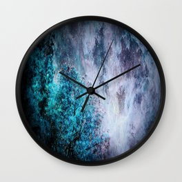 My Dreams Are Coming True : Turquoise & Lavender Wall Clock