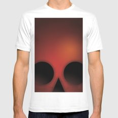 SMOOTH MINIMALISM - Ghost of Mars Mens Fitted Tee MEDIUM White