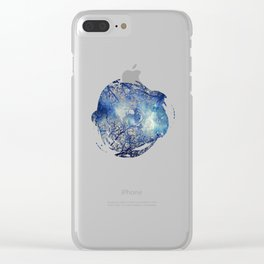 Winter Wood Clear iPhone Case