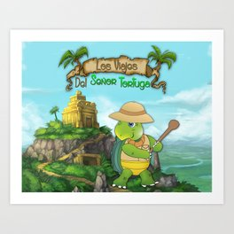 The Adventures of Mr. Turtle Art Print