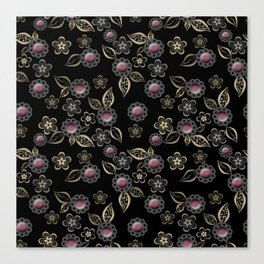 Beautiful brooches Canvas Print