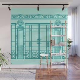 ART DECO, ART NOUVEAU IRONWORK: Blue Green Dream Wall Mural