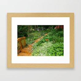 Garden Path Framed Art Print