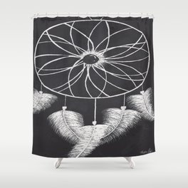 Feathered Dream Catcher Shower Curtain