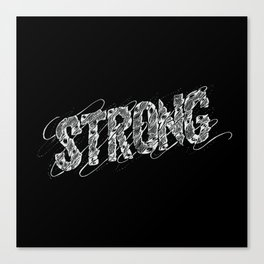 STRONG (White type) Canvas Print