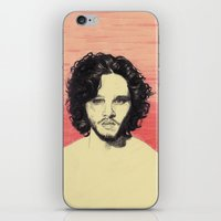 kit king iPhone & iPod Skins featuring Kit Harington by beecharly