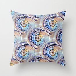 Spiral Staircase Pattern Throw Pillow