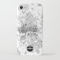 london map iPhone & iPod Cases featuring LONDON MAP by Maps Factory